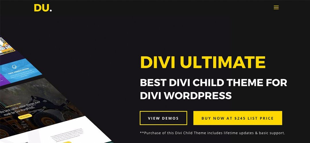 Divi Ultimate Homepage Screen Shot