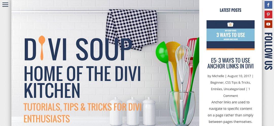 Divi Soup Homepage Screen Shot